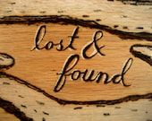 Lost and Found - Original Wood Burning of Antlers