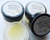 Ylang Ylang and Lemongrass Essential Oil Solid Perfume (Choose 5ml or 10ml Jar)- Vegan Friendly