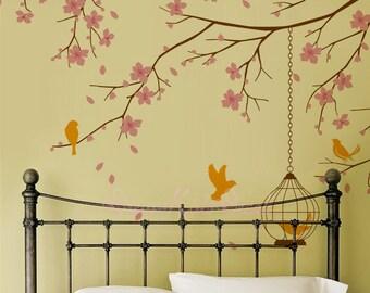 Kids wall Decal Wall Sticker Wall Decor wall art -Cherry Blossoms Tree Decal-DK098
