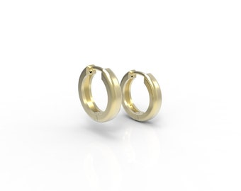 14k yellow gold huggie earings