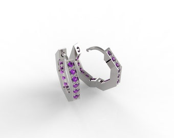 Silver earrings with cubic zerconia