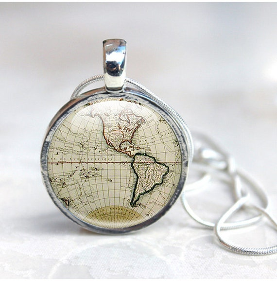 Map necklace ancient world map globe necklace world map like this item gumiabroncs Gallery