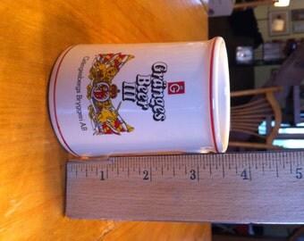 Vintage Granges Beer Tankard Mini 3 7/8 by 2 Franklin Mint 1981
