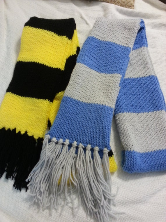 Hufflepuff Scarf Knitting Pattern : Harry Potter Inspired Knitted Scarf Hufflepuff by ...