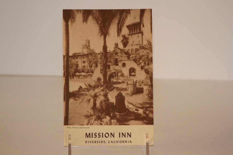 vintage 1953 mission inn menu from riverside california