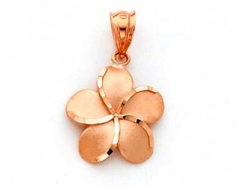 Plumeria Flower, Plumeria Jewelry, Flower, Flower Jewelry, Flower pendant, gold flower, plumeria pendant, hawaii jewelry, hawaiian flower