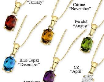 Birthstone pendant etsy birthstone birthstone pendant birthstone necklace 14k birthstone pendant birthstone jewelry color aloadofball Choice Image