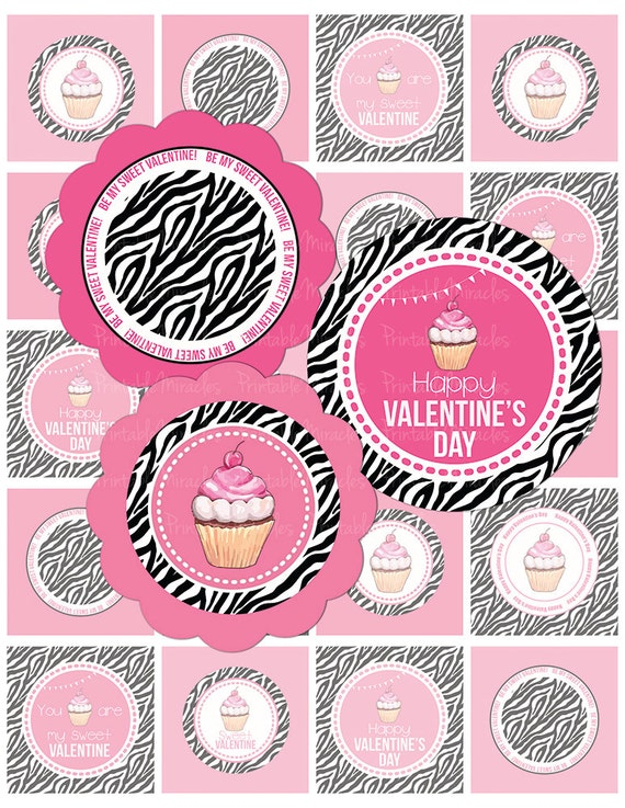 Valentine's party cupcake toppers / by PrintableMiracles on Etsy