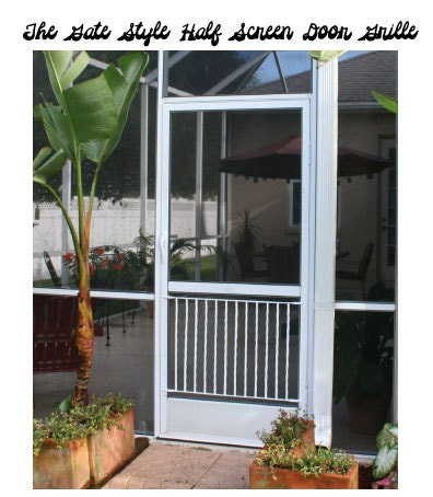 Half Screen Door Grille Gate Style Simple Clean Design Made