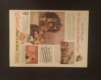 Vintage War Time Camel Cigarette Ad