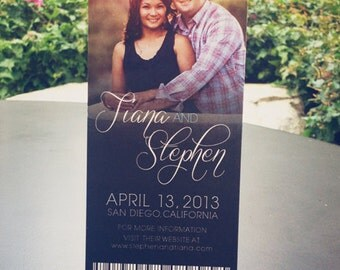 Wedding Save the Date Ticket // Affordable DIY Printable