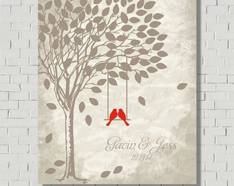Wedding Gift, Wedding Keepsake, Bridal Shower Gift, Wedding Guest Book Alternative, Wedding Tree, Guest Book Tree, Signatures Wedding Poster
