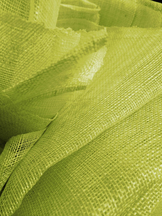 1 Yard Chartreuse Sinamay Millinery Fabric By Yushop On Etsy