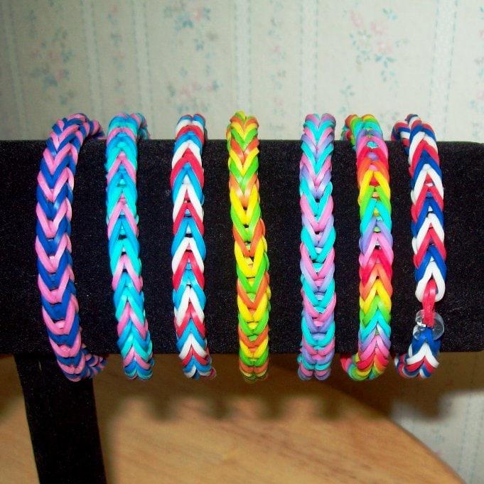 Rainbow Loom Rubber Band Bracelet Fishtail Design