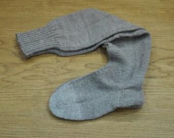 Vintage HAND KNIT wool socks ...(C2)