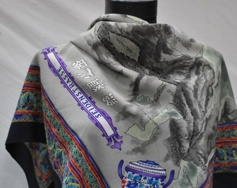 Vintage Scarf THE ROAD of SILK ......
