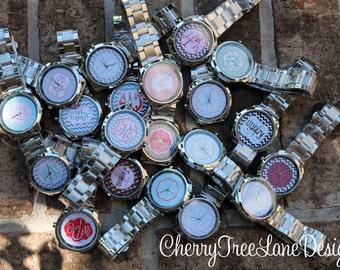 Boyfriend Watch Monogrammed Personalized Boyfriend Watch Personalized Watch with Initials Ladies Watch Stainless Steel Watch Personalized
