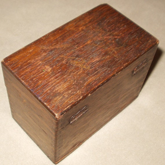 wooden file box antique weis oak wood library index card file wooden box 29454
