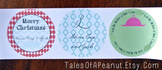 """Printed 3"""" Circle Stickers - You pick the background, design (from any in the shop), and color"""