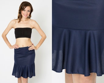 Basic Navy Flounce Slip Dress Extender - All Sizes