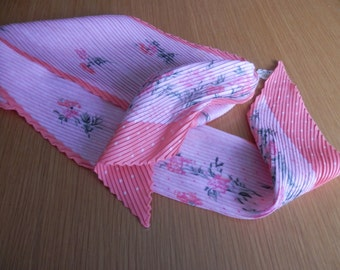 Pink Floral neck scarf