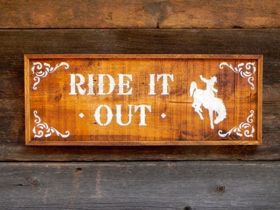 Wood sign western signs and home decor country signs horse for Home decor signs