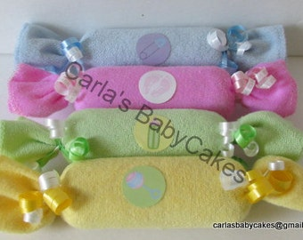 Washcloth Diaper Candy | Baby shower favor Baby Shower Decoration | Baby Diaper Candy | Baby Shower Gift | New Mom Gift | New Baby Gift
