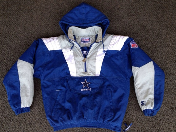 Vintage Mens Nfl Football Dallas Cowboys Starter Puffy Winter