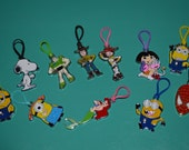 Rainbow loom charms.  Disney, Nick Jr. Mario, Minions