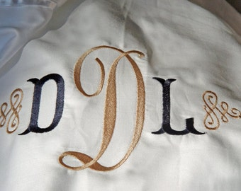 Personalized Bed Sheet Set With Initial Monogram