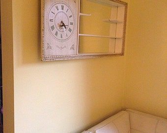 Turner Wall Accessory Mid Century Mirrored Shadow Box With Clock