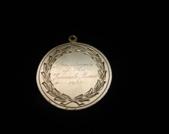Sterling Silver Pendant  from 1921 .