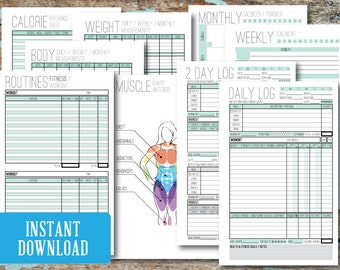 "Fitness / Health / Wellness / Weight-loss Journal, Instant Download, 5.5"" x 8.5"""