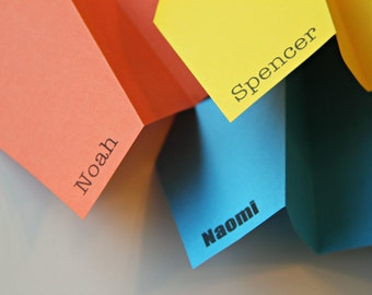 One set of 50 Personalized Paper Airplanes