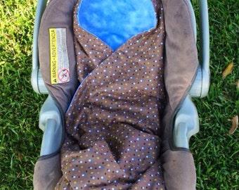 Custom Car Seat Swaddle Blankets--2 infant sizes blankets