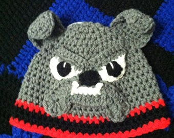 Crochet Bulldog Hat