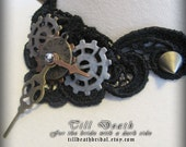 Frozen in time lace steampunk choker