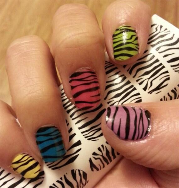 Nail Art Zebra Stripes: 2 X 18 ZEBRA / TIGER Stripe Nail Art ZTB 36 Full By