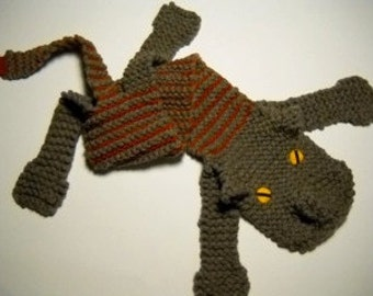 Handmade Knitted with love Cat Scarf