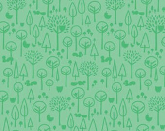 Deena Rutter for Riley Blake, Scenic Route Trees Green Fabric 1/2 Yard