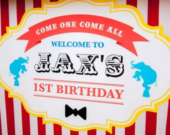 Circus / Big Top Themed Sweet Table Backdrop Printable / Circus Party