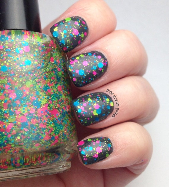 Items Similar To Zappinu0026#39; It To Ya - Neon Glitter Topper Nail Polish On Etsy