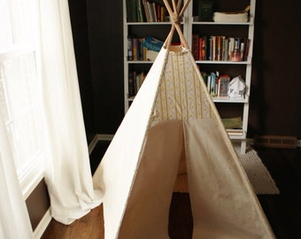 handmade play teepee, canvas tent