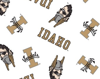 University Of Idaho Vandals Collegiate Cotton Fabric 1 Yard Sports Team 100% Cotton
