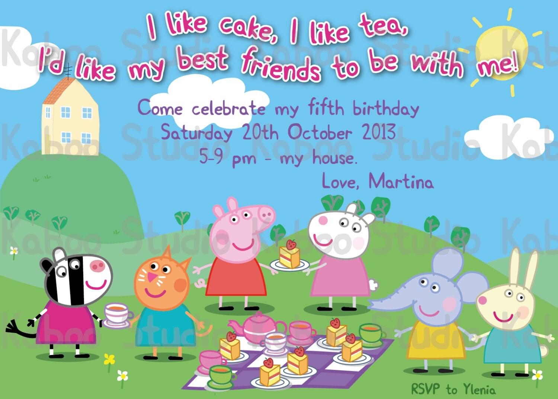 Peppa Pig Birthday Invites for best invitations design