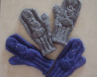 Owl Mittens  for Kids