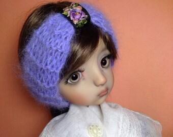 OOAK Custom Angora Headband for Blythe and MSD - Lavender