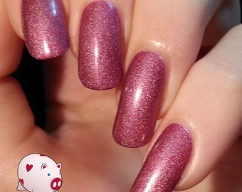 Perfectly plum purple holographic nail polish