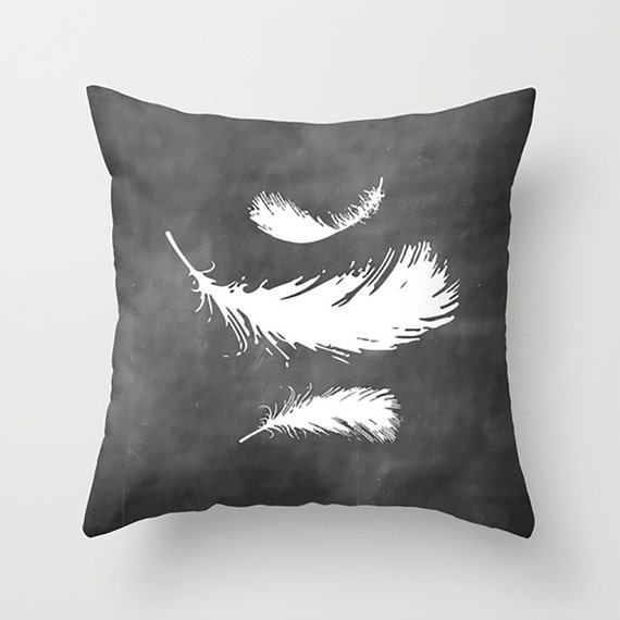 Decorative Pillows Feather : Decorative Pillow Feather Decor Nature Pillow Throw Pillow