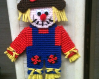Fall  Scarecrow Magnet Needlepoint Plastic Canvas